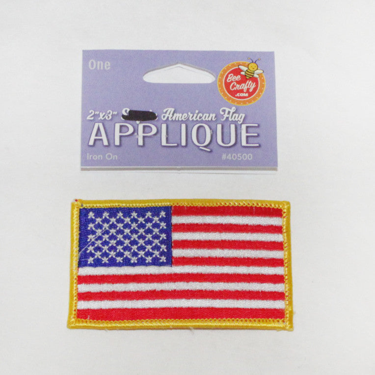 "2""x3"" Stitched American Flag Applique"