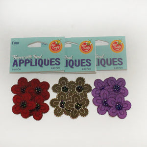 Flowers with Beads Appliques