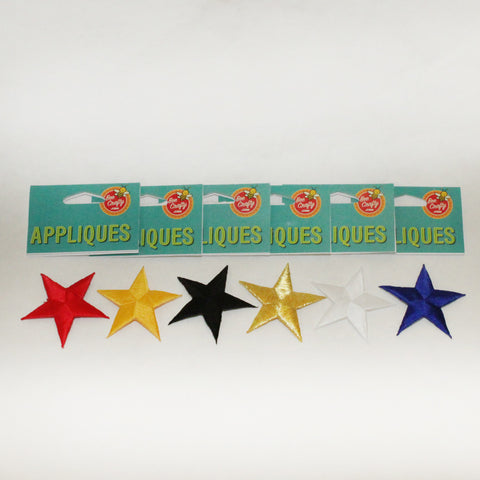 "2 1/4"" Stitched Star Appliques"