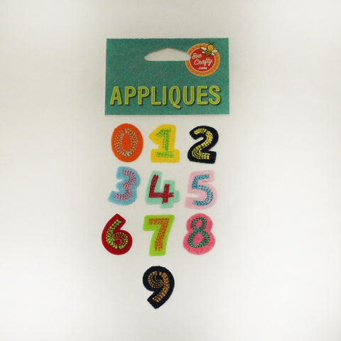"1"" Fabric Number Applique"