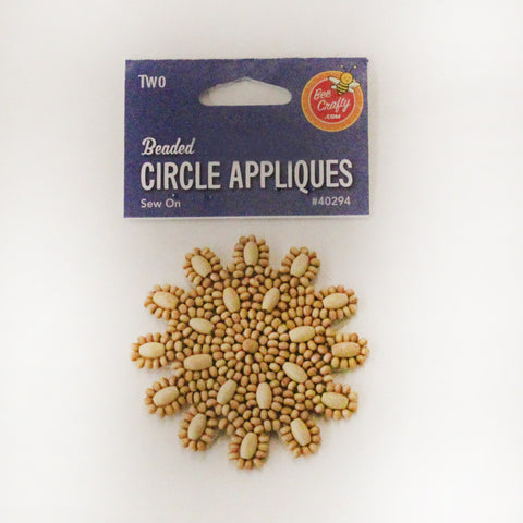 "3"" Beaded Circle Appliques"
