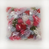 "Organza 1-1/2"" Flower w/pearl, 5 colors, 144 each (#26)"