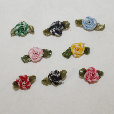 "Mini-Rosette 7/16"" Candy Striped (8 colors)"