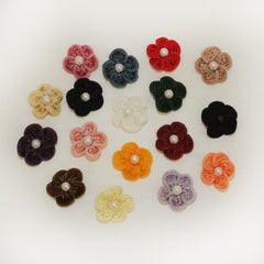 "Rayon 3/4"" Loop Flower w/Pearl 144 pieces (17 colors) (#13)"