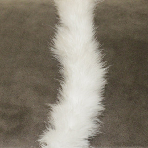 White 6-foot Maribou Feather Boa, 41 gram (each)