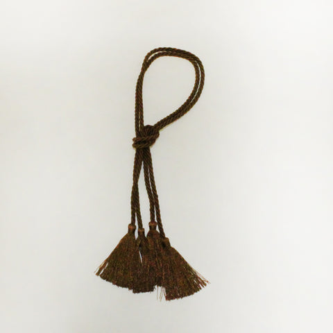 "14""Chocolate Decorative Cords with Tassels"