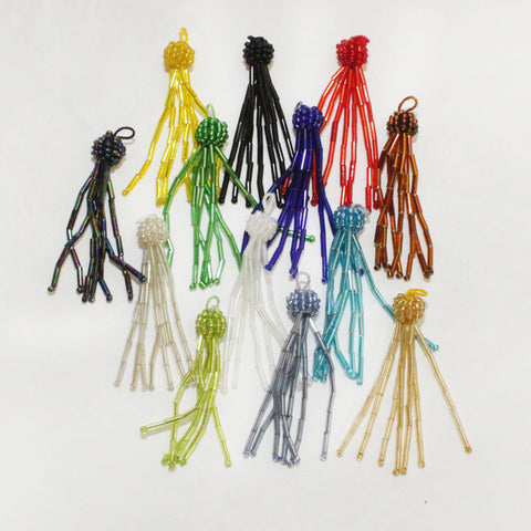 "2-1/4"" Beaded Glass Tassel"