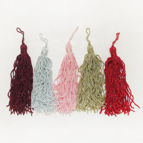 "4"" Rayon Chainette Tassels"