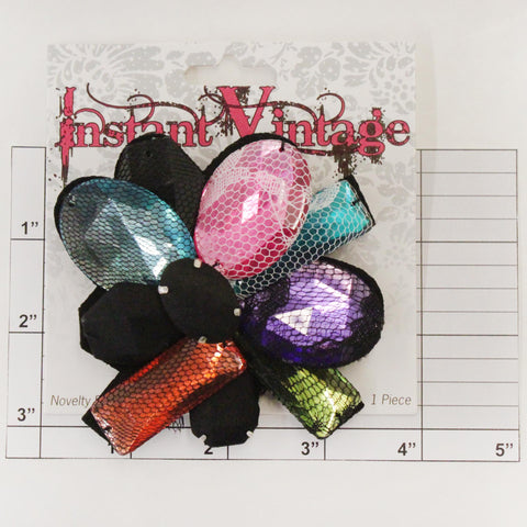 Jeweled Brooch 4""