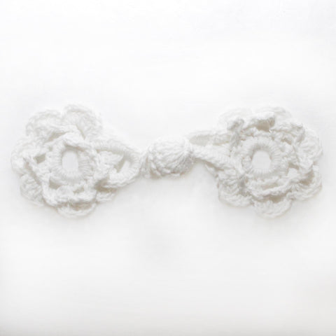"4"" Crochet Circle Frog Knot Closure"