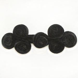 "2"" Velvet Triple Coil Frog Know Closure - 10 sets"
