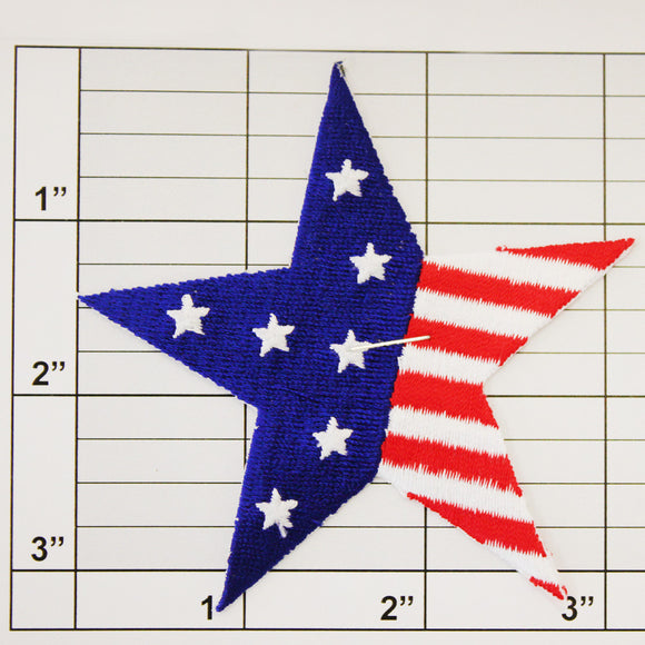 Patriotic Star Applique
