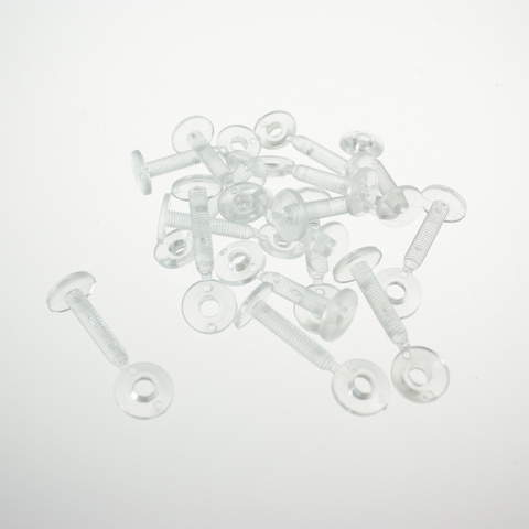 "Clear Plastic Washer Fasteners, 3/4"" (Bag of 250)"