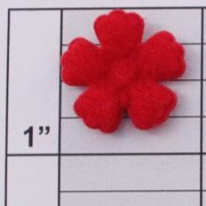 Felt Flower applique 13 colors (6 per bag)