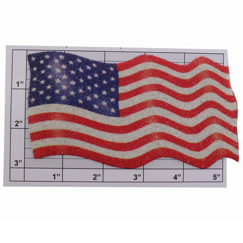 American Flag appliques 2 sizes