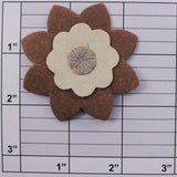Suede flower applique 2 colors