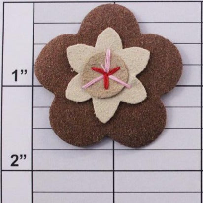 Suede flower applique