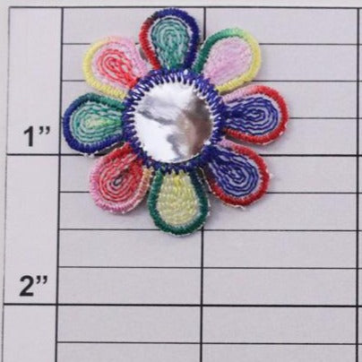 Rainbow Flower w/ mirror center