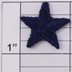 Star applique 3 colors (6 per bag)