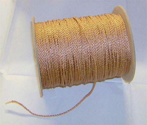Wired Cord, Camel, 288 Yd Roll - Each