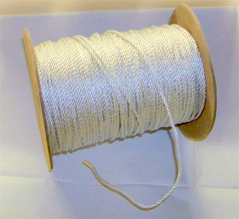 "White Wired Cord, #630 1/16"" Diam. 288 Yards (1 Roll)"