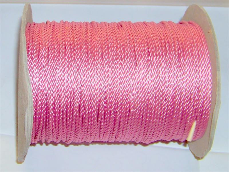 "Light Rose Wired Cord, #630 1/16"" Diam. 288 Yards (1 Roll)"
