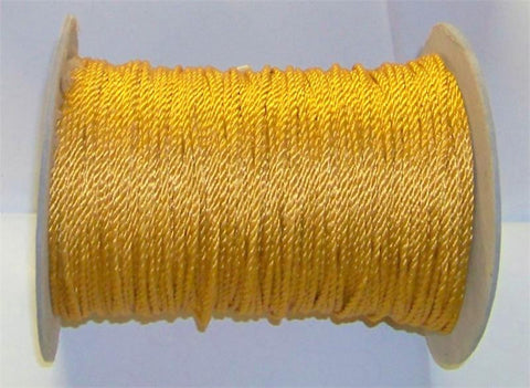 Wired Cord, Gold, 288 Yard Roll - Each