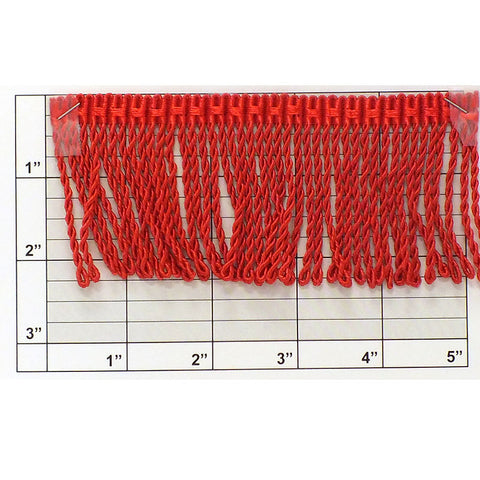 "Bullion Fringe 2-1/4"" (Per Yard) Red"