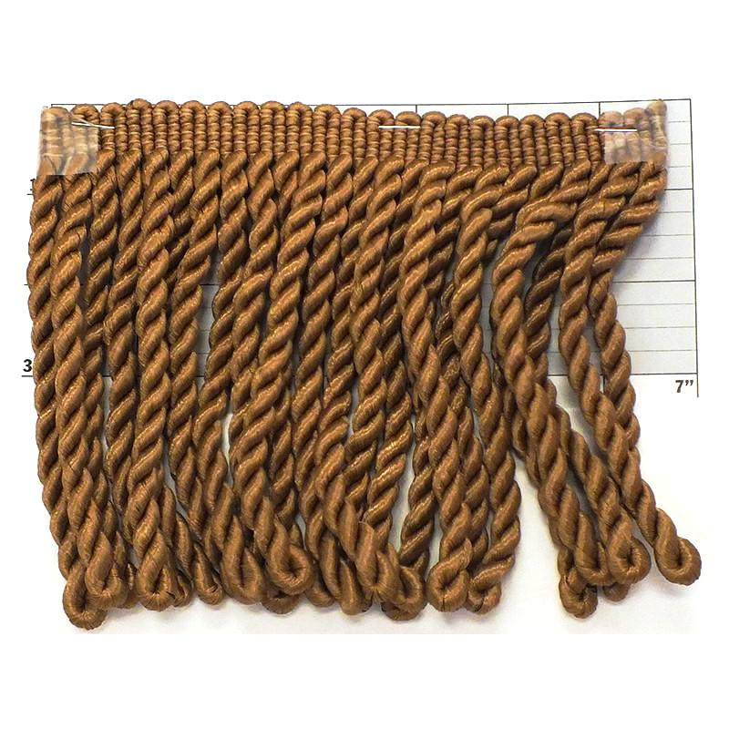 "Rayleen Collection Bullion Fringe 6""<br>(Per Yard)<br>Antique Brown"
