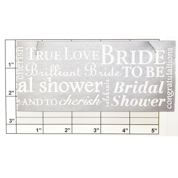 Berwick Wedding Banner Ribbon 2-1/2
