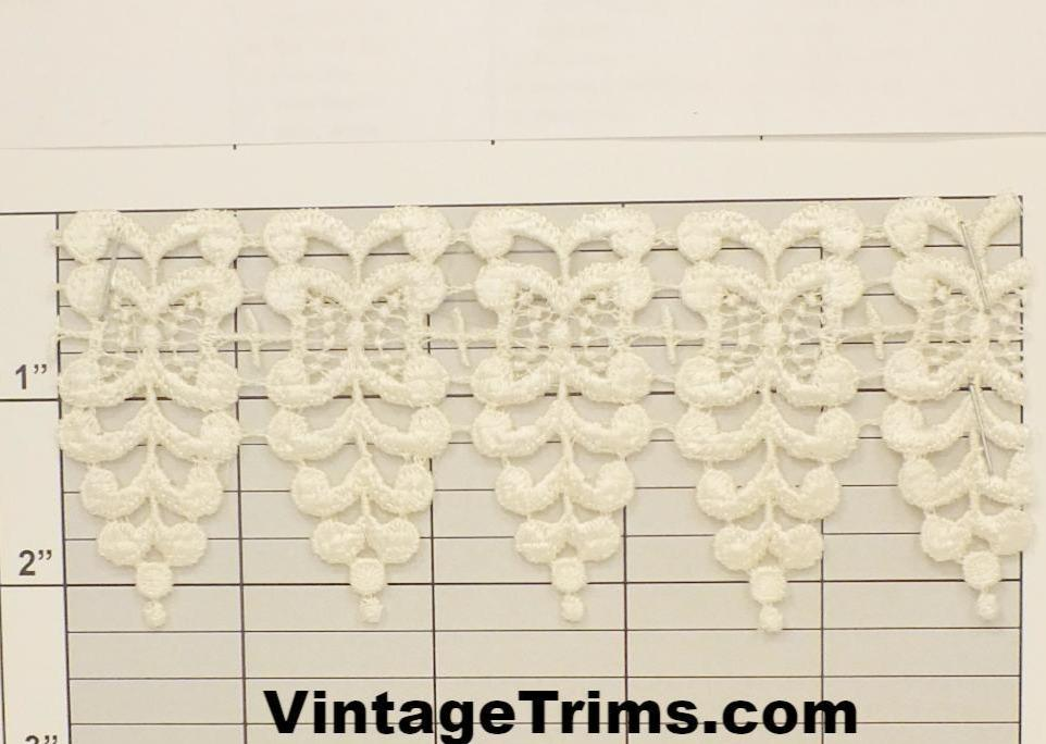 "Butterfly Swags Venice Lace 2-1/4"" (Per Yard) Ivory"
