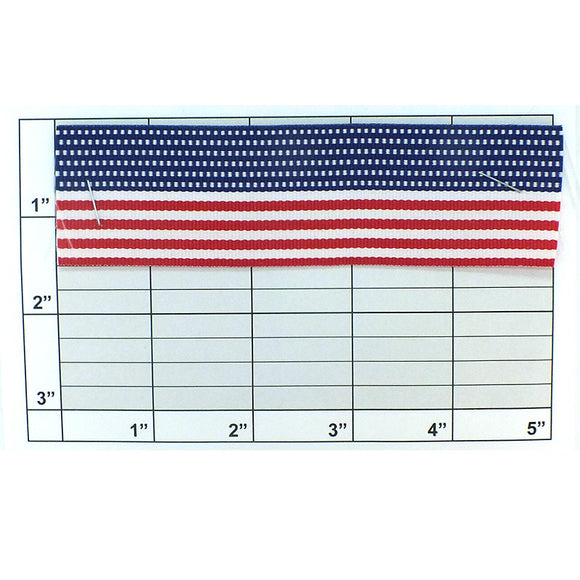 USA Flag Grosgrain  Ribbon 1-1/2