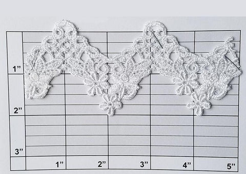 "Venice Lace 2-1/4"" (Per Yard) White"