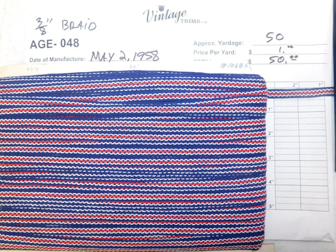 "Card of 3/8"" Multi-Colored Braid (approx. 50 yards)"