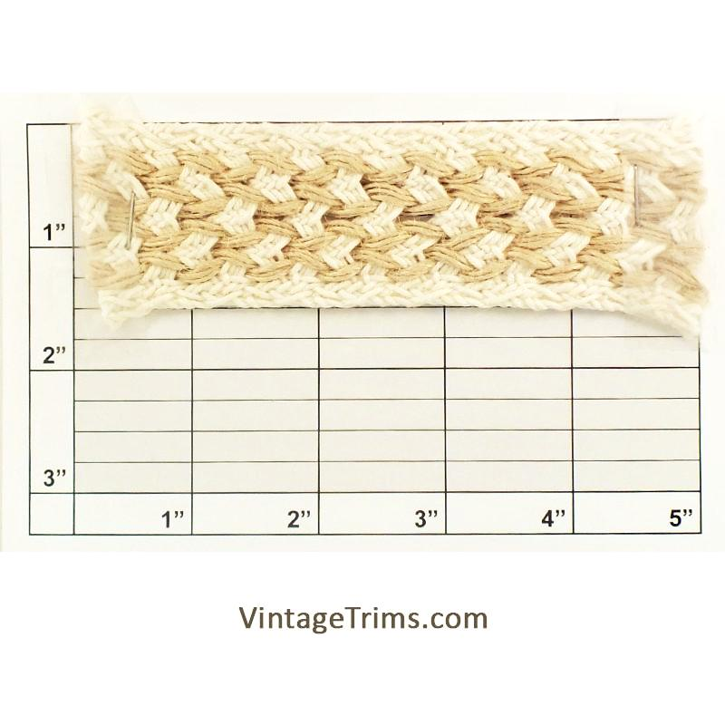 "Braid 1-1/2"" (Per Yard) Jute/Natural"