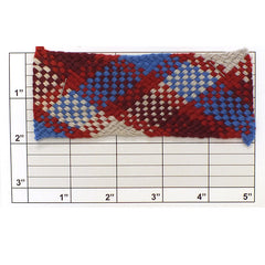 "Checkered Design Braid 1-7/8"" (Per Yard) 7 Colors"