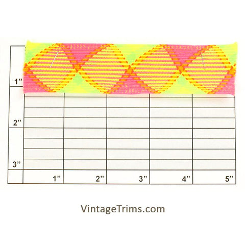 "Neon Flat Braid 1-1/4"" (Pink/Orange/Green/Yellow)"
