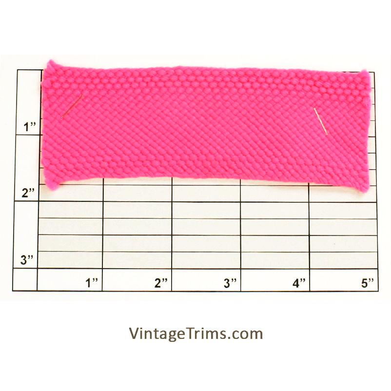 "Flat Braid 1-3/4"" (Per Yard) Neon Pink"