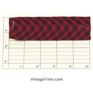 "Plaid Flat Braid 1-1/2"" (Per Yard) 2 Colors"