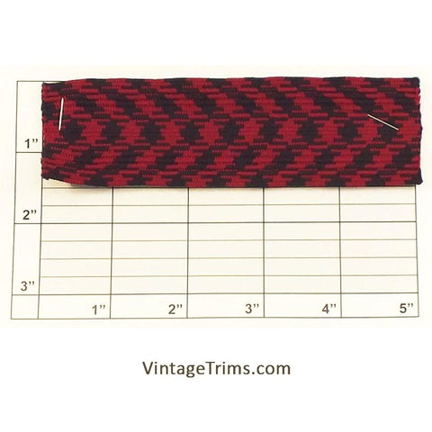 "Flat Braid 1-1/2"" (Red/Black)"