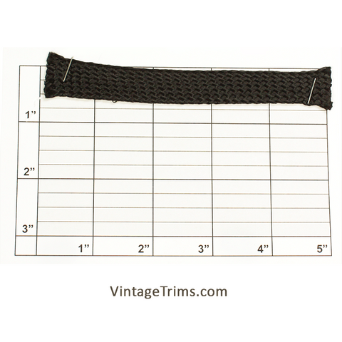 "Foldover Braid 1-1/4"" folded to 5/8"" wide (Black)"