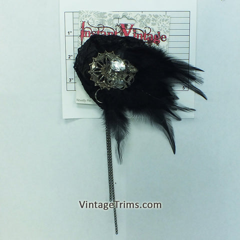 "Feather Broach 5-1/2"" (Black)"