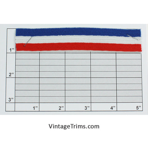 "Elastic 1"" (Per Yard) Red/White/Blue"
