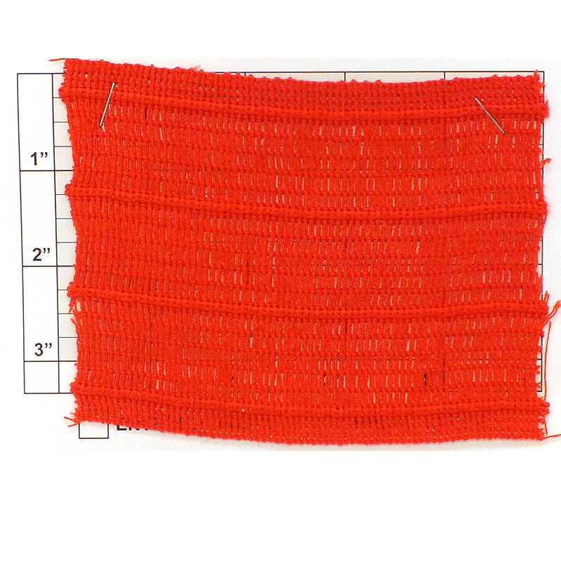 "Wide Woven Braid w/ 4 Insets 3-7/8"" (Per Yard) Red"