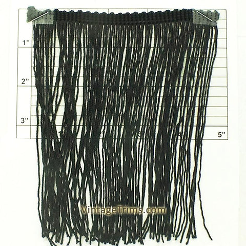 "Chainette Fringe 6"" (Per Yard) Black"
