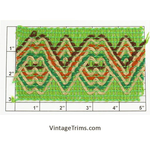 "Wide Woven Braid 3""<br>(Green/Brown/Burnt Orange/Hunter/Tan)"