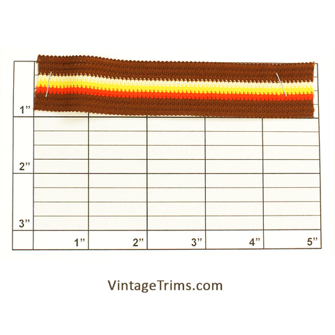 "Flat Braid 1"" (Brown/Orange/Yellow/White)"