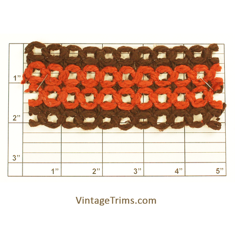 "Figure 8 Braid 2-1/8"" (Brown/Rust)"