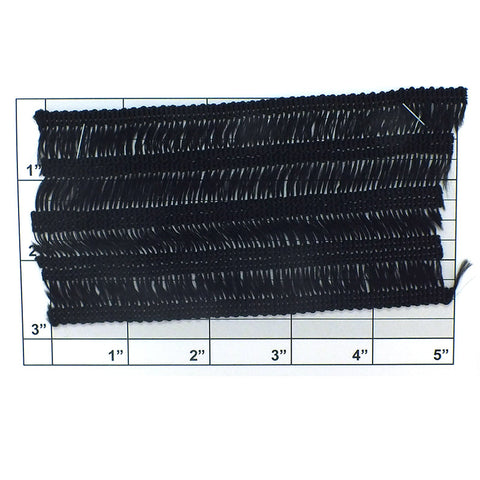 "Wide Woven Braid 2-3/4"" (Per Yard) Black"