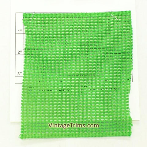 "Wide Woven Braid 5-3/4"" (Per Yard) Green"